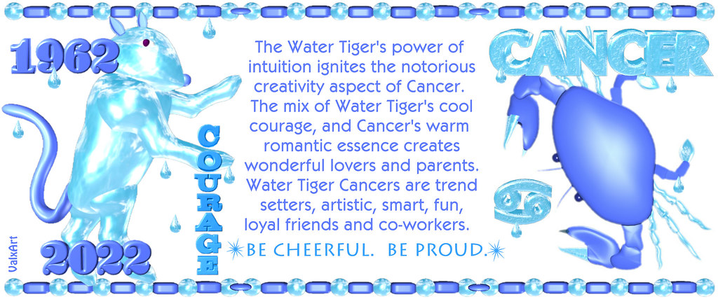 ValxArt's 1962 2022 Chinese Zodiac Water Tiger people born