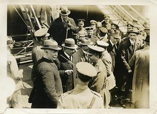 William Massey & Joseph Ward arriving in Boulogne, 1918