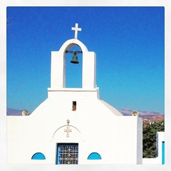 Beautiful greek blue colors #blue #sky #greece #cyclades #orthodox #church #greekpostcard8
