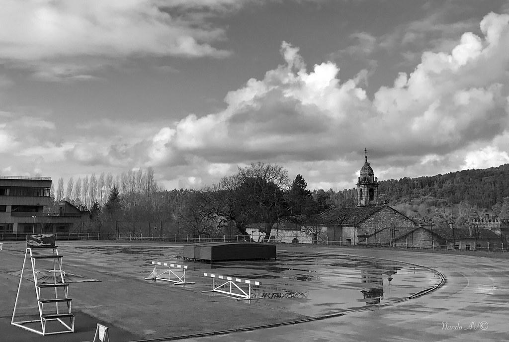 Mañana de lluvia en Santiago de Compostela