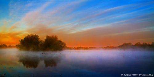 sun mist fog sunrise bedford dawn bedfordshire felton turner sunup firstlight dovecote willington robertfelton bedfordrivervalleypark