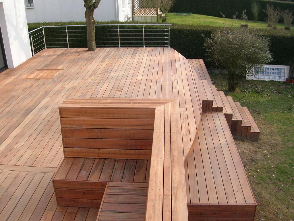 Terrasse En Bois Exotique terrasse en bois exotique en muiracatiara sur pilotis renn