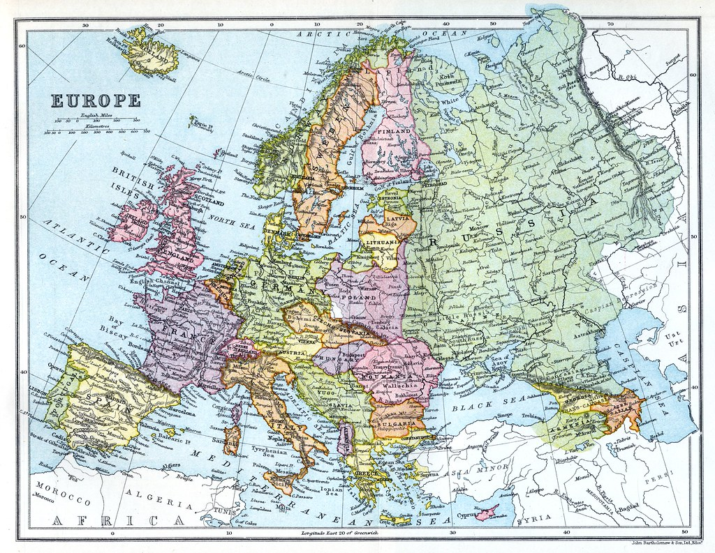 Gresham Encyclopedia - Europe after WW1 | A map of Europe fr ...