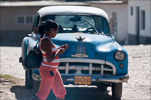 cuban girl walking the street