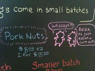 Pork nuts aren't what u think @CastIronGourmet heh @ArtisanalLA | by Caroline Pardilla