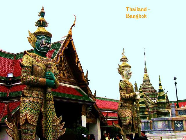 THAILAND-Bangkok, Stadt der Tempel  - Wat Phra Kaeo   - 1