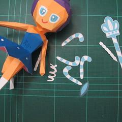 วิธีทำโมเดลกระดาษตุ้กตา คุกกี้รสราชินีสเก็ตลีลา จากเกมส์คุกกี้รัน (LINE Cookie Run Skating Queen Cookie Papercraft Model) 026