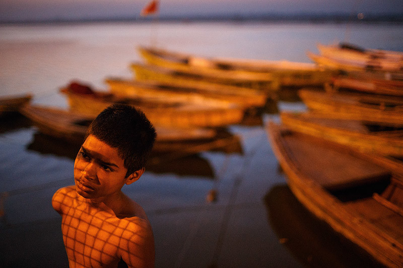 Morning scene - Varanasi, India
