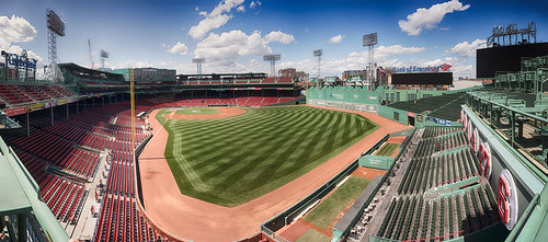Fenway Park Empty - From RF Corner Roof | by Eric Kilby
