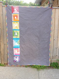 back rainbow quilt