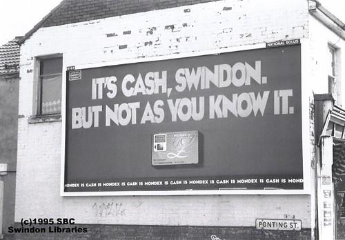 1995: Mondex Billboard, Ponting Street, Swindon | by Local Studies, Swindon Central Library