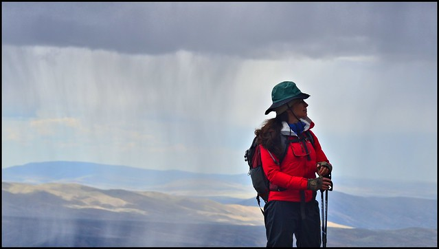 Joelle above Hardy Canyon