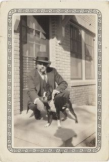 Man with Boston Terrier and Shadow, My Venture Into the Vernacular #3
