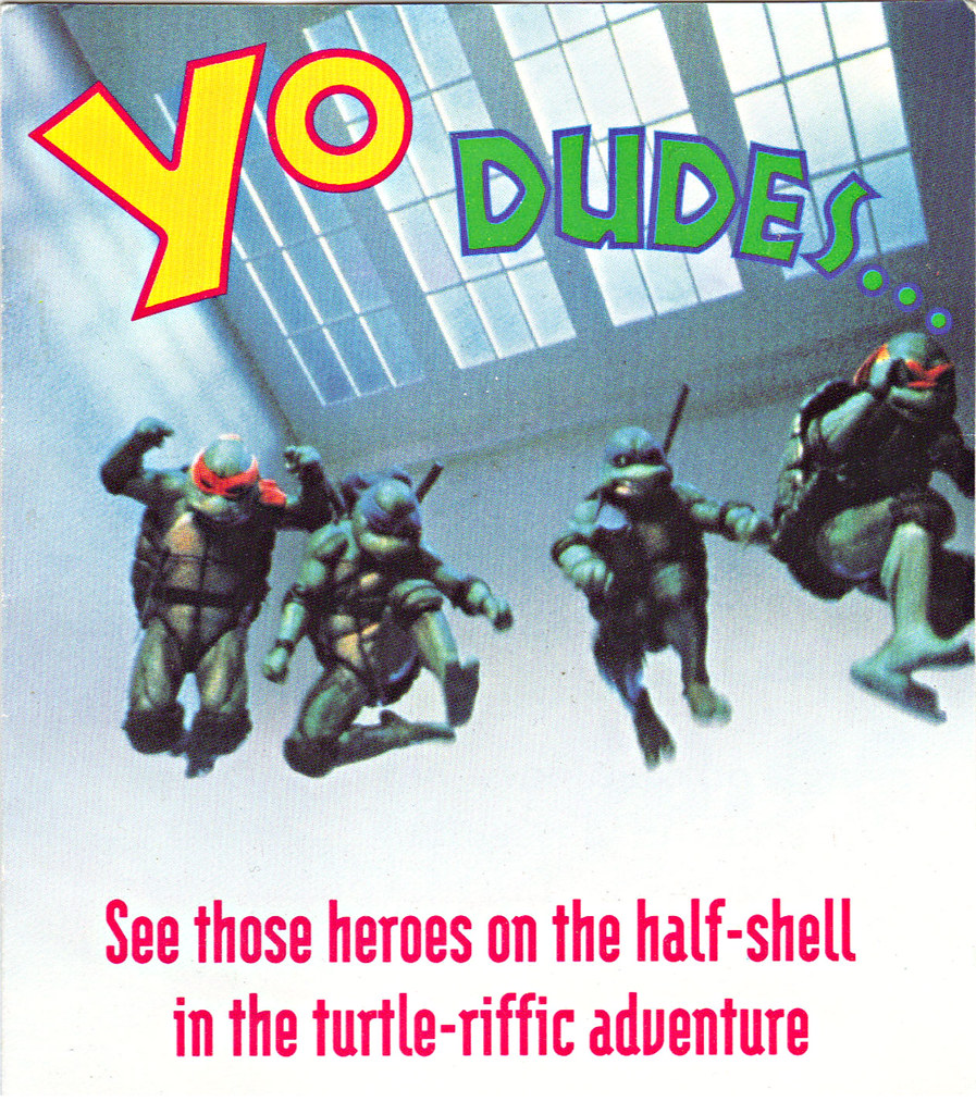 "TEENAGE MUTANT NINJA TURTLES II : THE SECRET OF THE OOZE :: ""YO DUDES ..."" ; TMNT II Video Offer form i  (( 1993 )) by tOkKa"