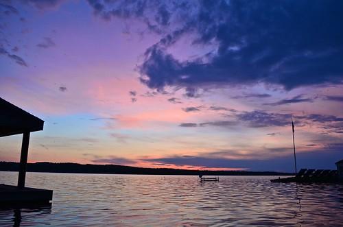 sunset lake evening day cloudy dusk partly canandaigua