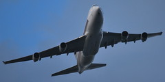 Very low over Almere: SQC7378 Singapore Cargo Boeing 747 (9V-SFM) at just 2.318ft from Changi approaching Schiphol