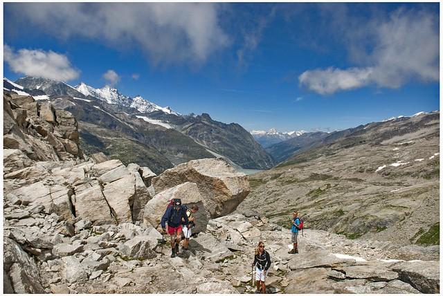 Walking up to Monte Moro Pass , Switzerland / Italy. No, 141.