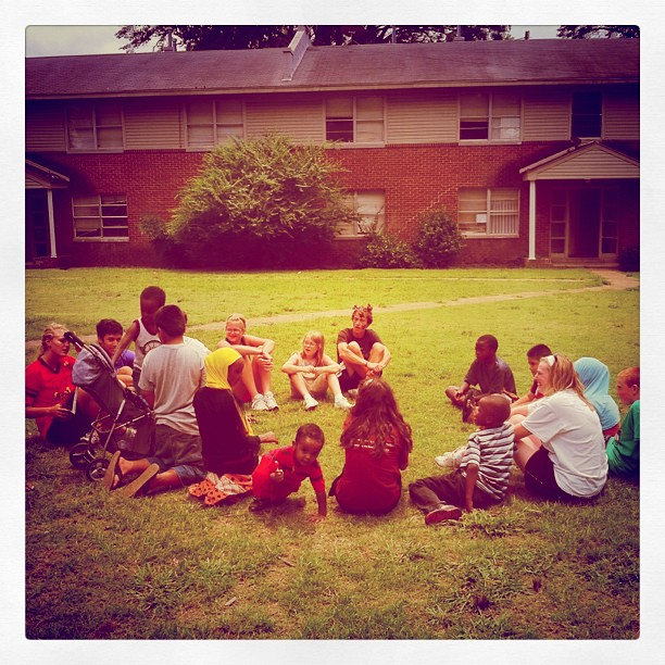 A little game of duck duck goose (or duck duck gray duck as I call it) #hopeexperience2011