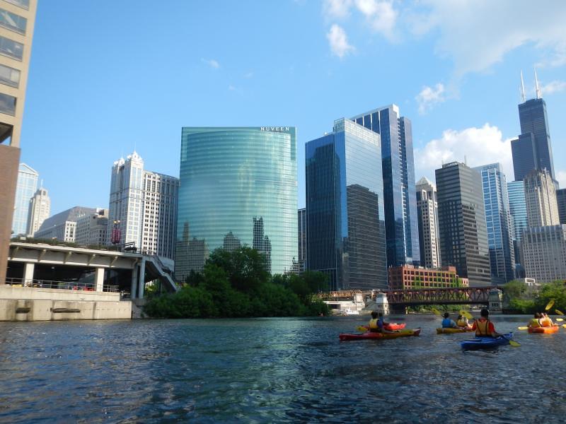 Chicago River Kayak Tour May 19, 2012