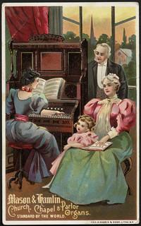 Mason & Hamlin, church, chapel & parlor organs. Standard of the world. (front) | by Boston Public Library