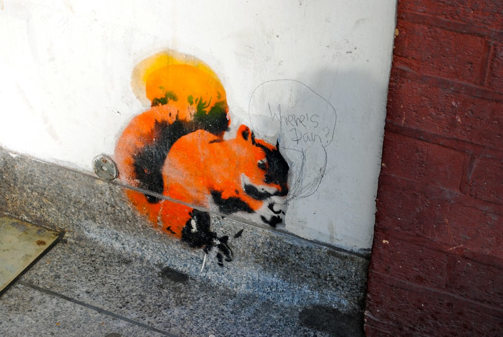 Red Squirrel Stencil, Rivington Street