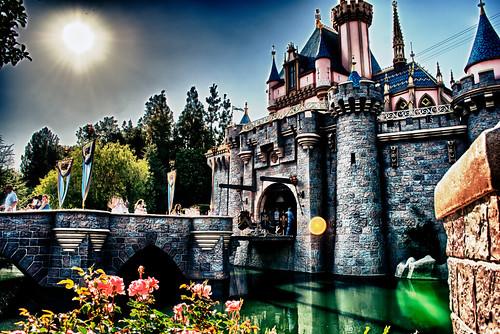 castle nikon disneyland bridges disney resort d200 hdr mote sleepingbeautyscastle ourdailychallenge hbmike2000