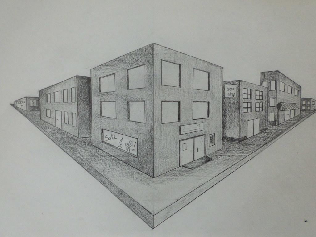Открытки, рисунок с домами 6 класс