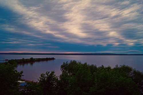 sunset sky lake water wisconsin bay dusk superior shore simply ashland lightroom chequamegon a55 picmonkey