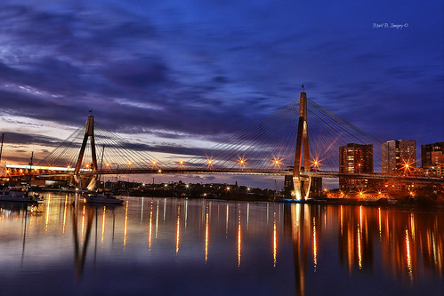 longexposure sunset cloud reflection water geotagged boats photography flickr harbour sydney australia wideangle nsw anzacbridge markbimagery