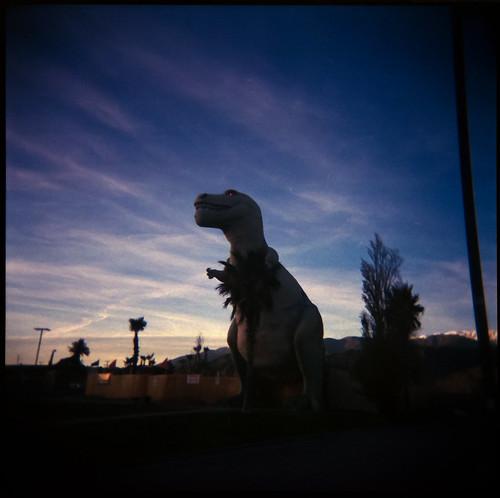 california ca 120 analog mediumformat toy holga desert lofi plastic roadsideamerica cabazon keylargodiverflickrcom cabazonmonsters