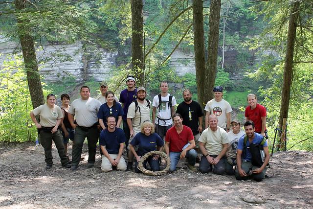 Group shot, Cummins Falls Cleanup, Jackson Co, TN
