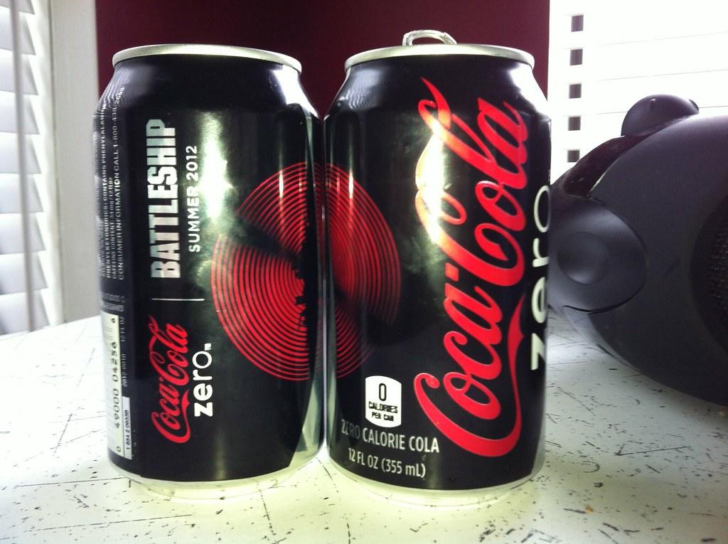 Coke Zero Battleship promotional cans (2012)   Promoting Pet