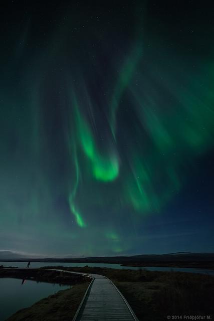 Dwarfed by aurora