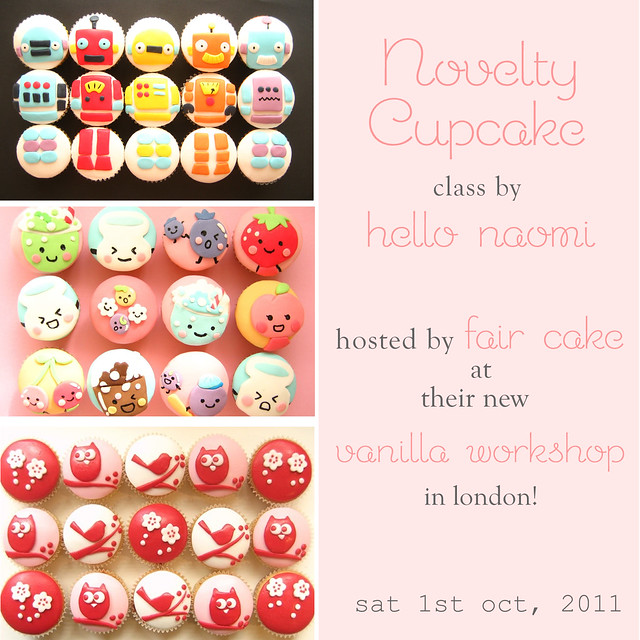Hello Naomi classes at Fair Cake in LONDON!!