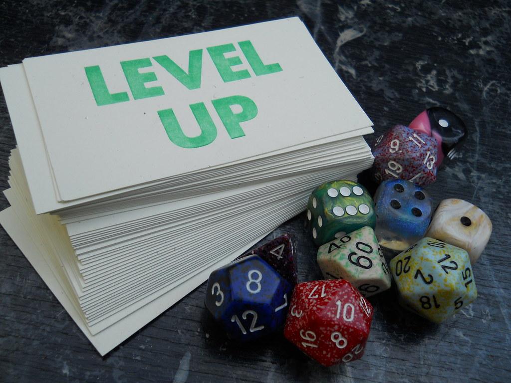 "Level Up letterpress | Some ""level up"" cards I made, picture… | Flickr"