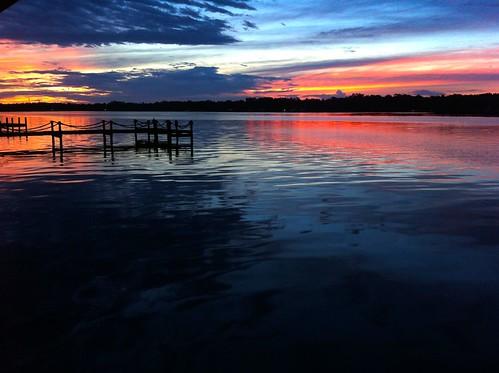 blue sunset orange st night creek river evening florida cloudy jacksonville fl johns stjohnsriver julington
