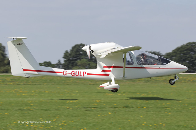 G-GULP - 2002 build Iniziative Industriale Italian Sky Arrow 650T, arriving at Sywell during the 2013 LAA Rally