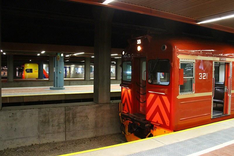 Port line trains by David Arnold