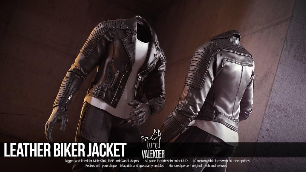 [VALE KOER] LEATHER BIKER JACKET