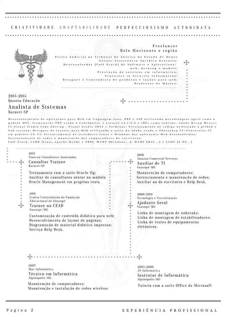 Resume Pag2 X Layout Clean Type Pg2 Ex Prof Lameck Fernandes Flickr
