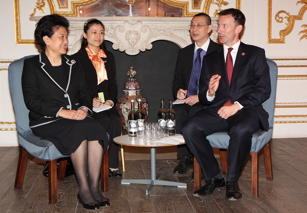 Culture Secretary Jeremy Hunt and Chinese State Councillor Liu Yandong