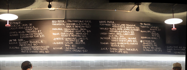 Starters, red and white pizzas, dessert menu - SPQR Pizzeria, Melbourne - stitched