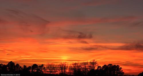 christmas winter light sunset orange clouds canon golden nc december northcarolina denise goldenhour franklincounty worden 450d deniseworden