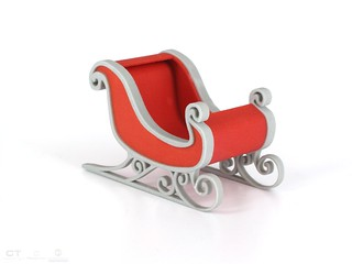 CreativeTools.se - PackshotCreator - 3D printed - ZPrinter - Santa Claus sleigh - Jultomtens släde | by Creative Tools