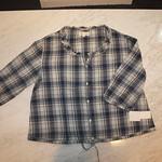 シャツ TVCL01A11038 濃青(チェック) ¥2,980