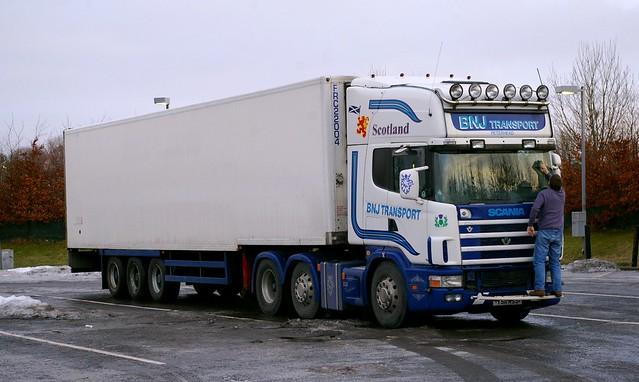 Scania 530 Topline 144L BNJ TRANSPORT Peterhead Scotland