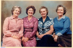 Left. Merva, Joy, Shirley, Joan.