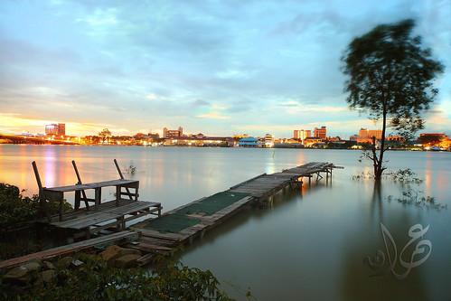 sunset seascape sunrise landscape seaside malaysia