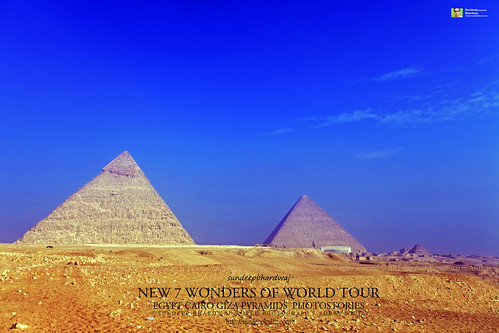 PYRAMIDS GIZA CAIRO EGYPT GIZA PYRAMIDS COMPLEX NEW 7 WONDERS OF WORLD TOUR PHOTOSTORIES  5223 AWFJ | by SDB Fine Art Travel of 2 Decades to 555+ Places Ph