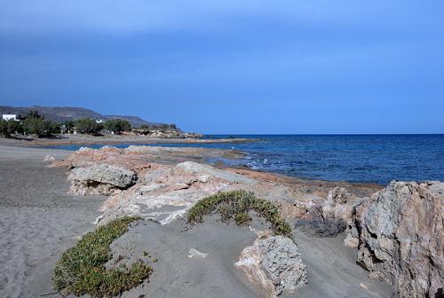 Xerokampos - am Strand